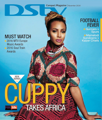 Billionaire daughter, DJ Cuppy on the Cover Of DSTV Compact Magazine