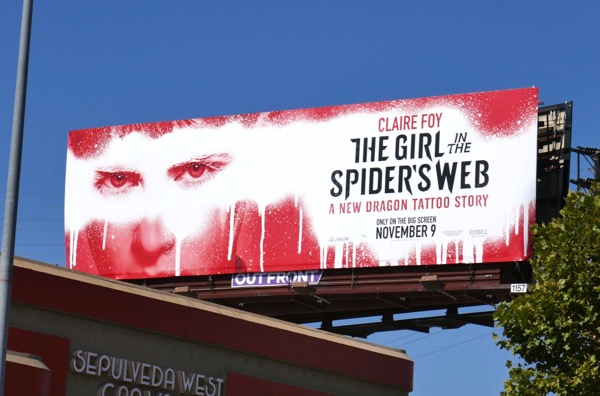 Girl in SpiderS Web film billboard