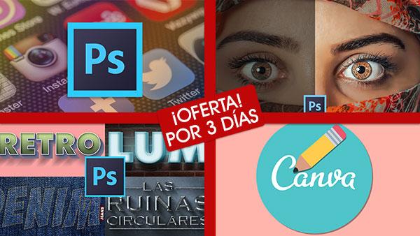 Cursos de Photoshop y Canva con rebajas hasta el 20 de Mayo