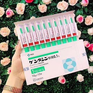 gel trị sẹo gentacin của Nhật