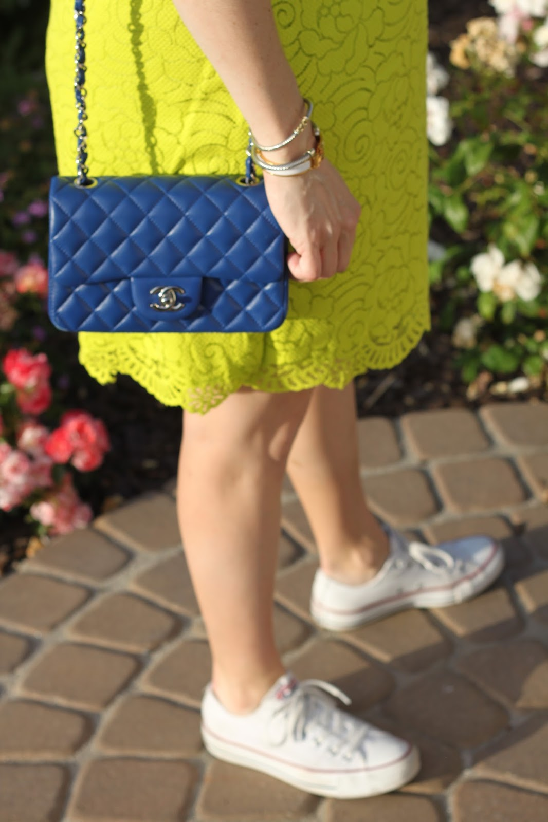 blue chanel bag