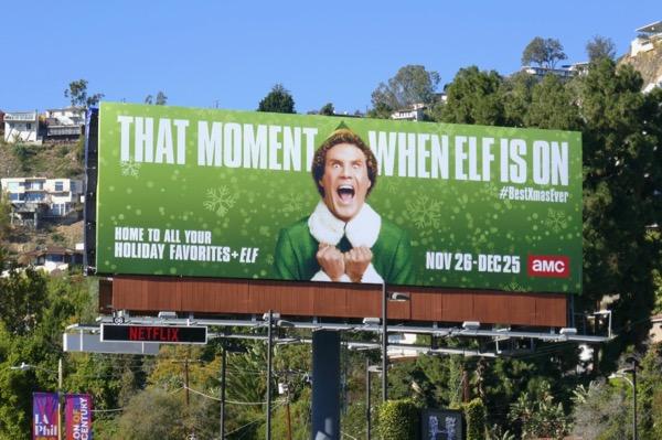 Will Ferrell moment when Elf is on billboard