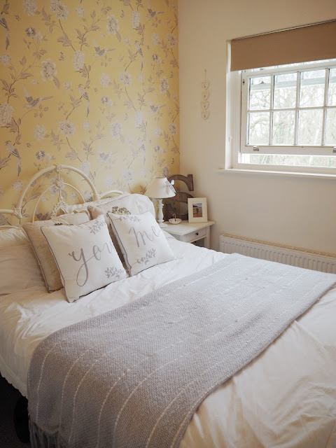 How we transformed our cluttered, drab room into a vintage shabby-chic master bedroom, opening up the space and brightening it up, all on a tight budget.
