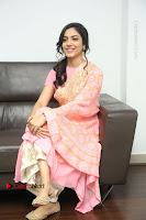 Actress Ritu Varma Pos in Beautiful Pink Anarkali Dress at at Keshava Movie Interview .COM 0288.JPG