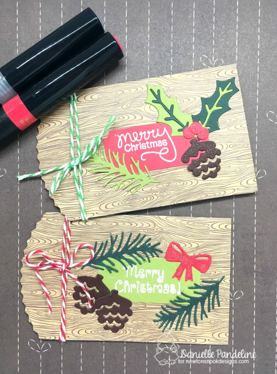 Gift Card Pockets by Danielle Pandeline | Pines & Holly Die set by Newton's Nook Designs #newtonsnook