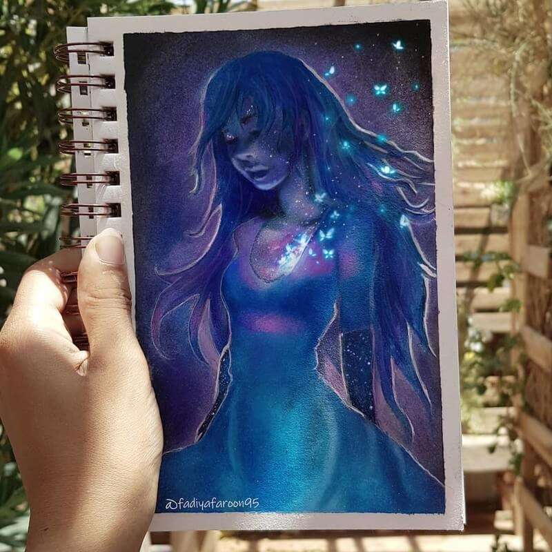 02-A-dream-in-me-Fadiya-faroon-Draw-and-Paint-in-Fantasy-Landscapes-www-designstack-co