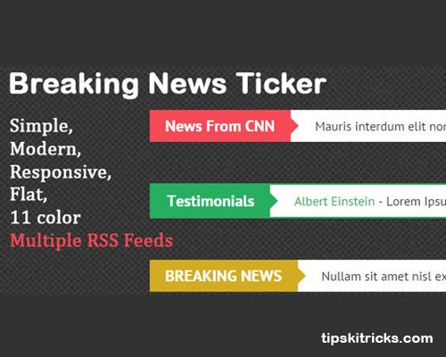 Breaking News Ticker Widgets