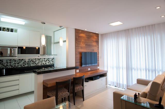 apartamento-pequeno- divisão -cozinha-e-sala
