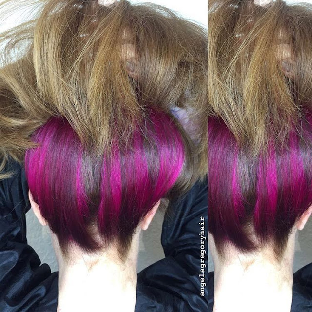Colorful Underneath Hair