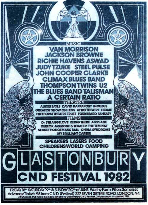 Graphic Design Glastonbury Posters