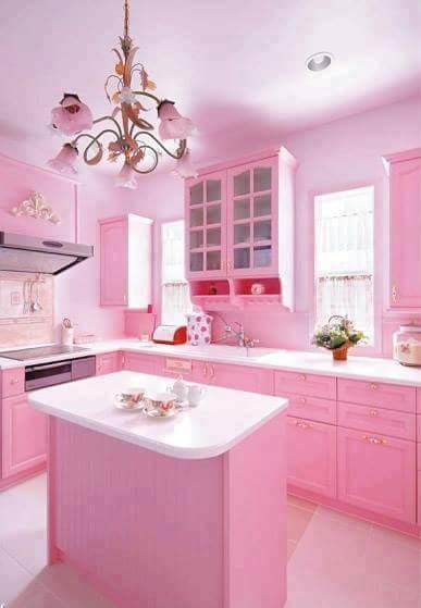 Ni Sesuai Untuk Ge Atau Pencinta Pink Wah Gitu Hikhik Next Time Cik Rose Kongsikan Kabinet Dapur Mengikut Tema Ya G Lain K