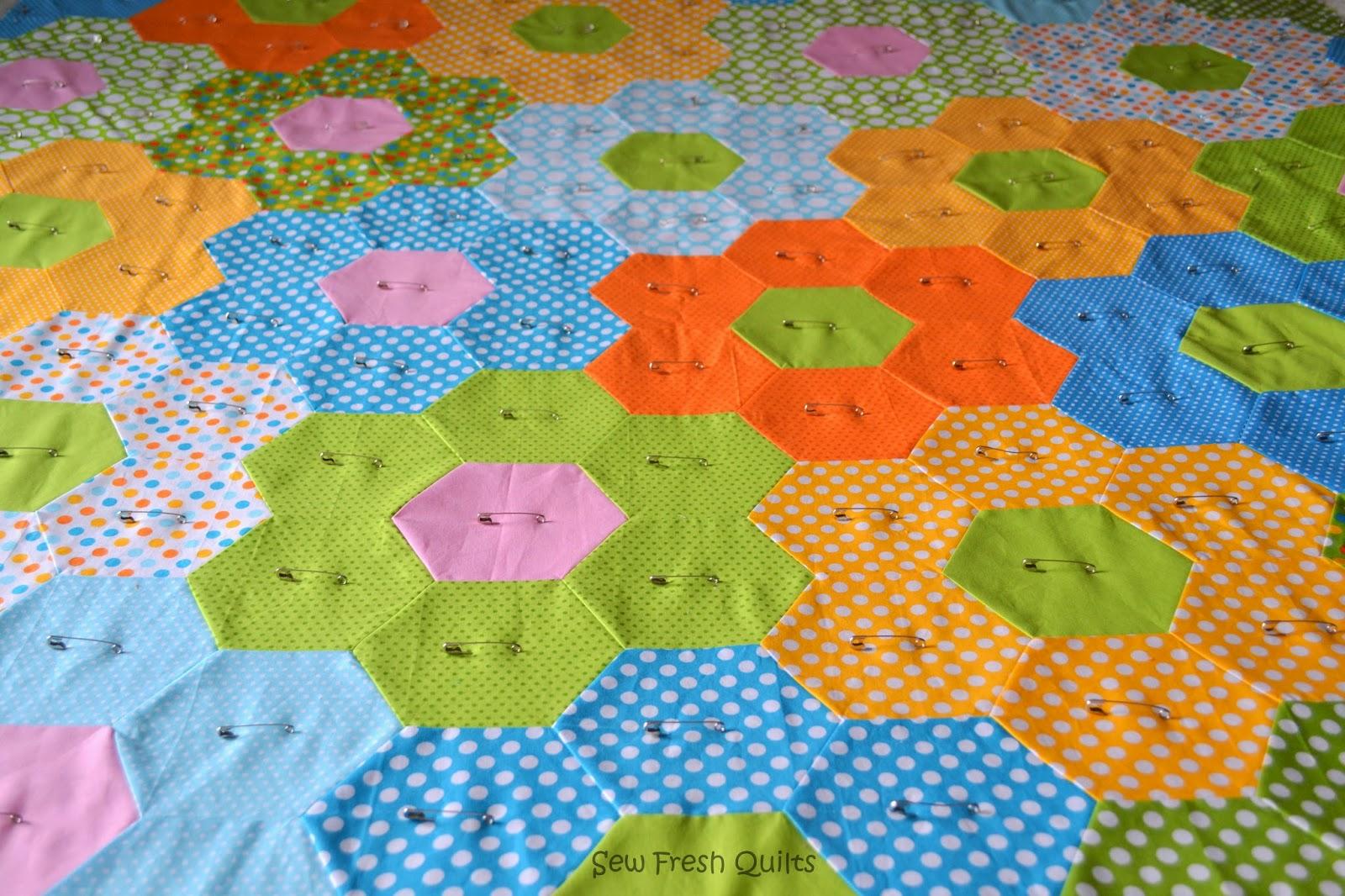 Sew Fresh Quilts Hexagon Quilt
