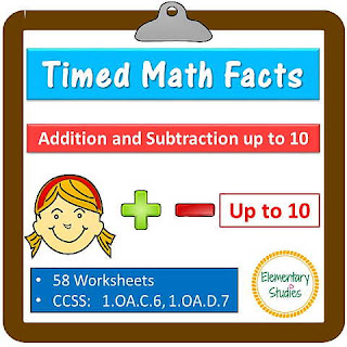 Fact Fluency within 10 for Grade 1