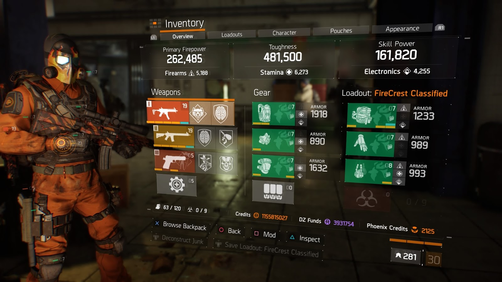 The Division 1 8 1 Firecrest Classified Build
