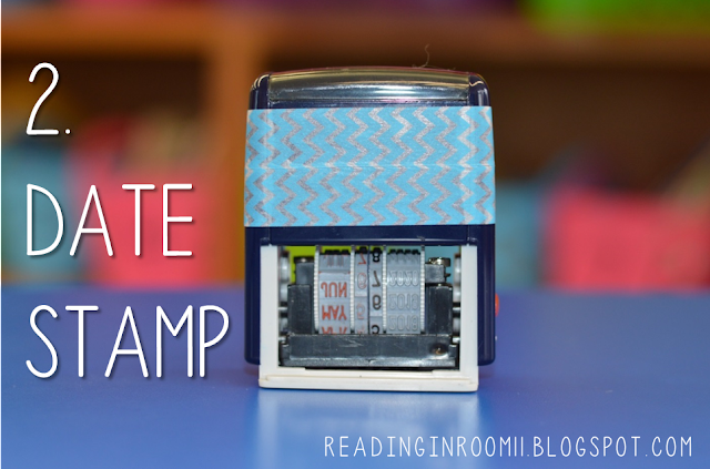 This date stamp is an essential supply for small group reading.  Having a date stamp is a great way to save time as well as document student work.  Students love using it and it is a time saver.   Check out the full post for more details and small group reading essentials!