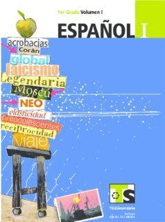 Libro de TelesecundariaEspañolIPrimer gradoVolumen ILibro para el Alumno2016-2017