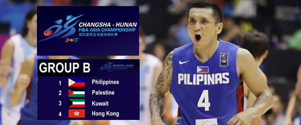 List of Gilas Pilipinas Complete Game Schedules, Scores - 2015 FIBA Asia Championship China