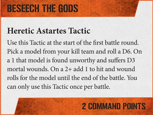 Tácticas Kill Teams Marines del Caos