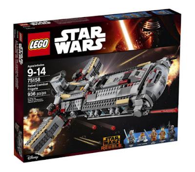 TOYS : JUGUETES - LEGO Star Wars  75158 Fragata de Combate Rebelde  Rebel Combat Frigate  Producto Oficial 2016   Edad: 9-14 años   Piezas: 936  Comprar en Amazon España & buy Amazon USA