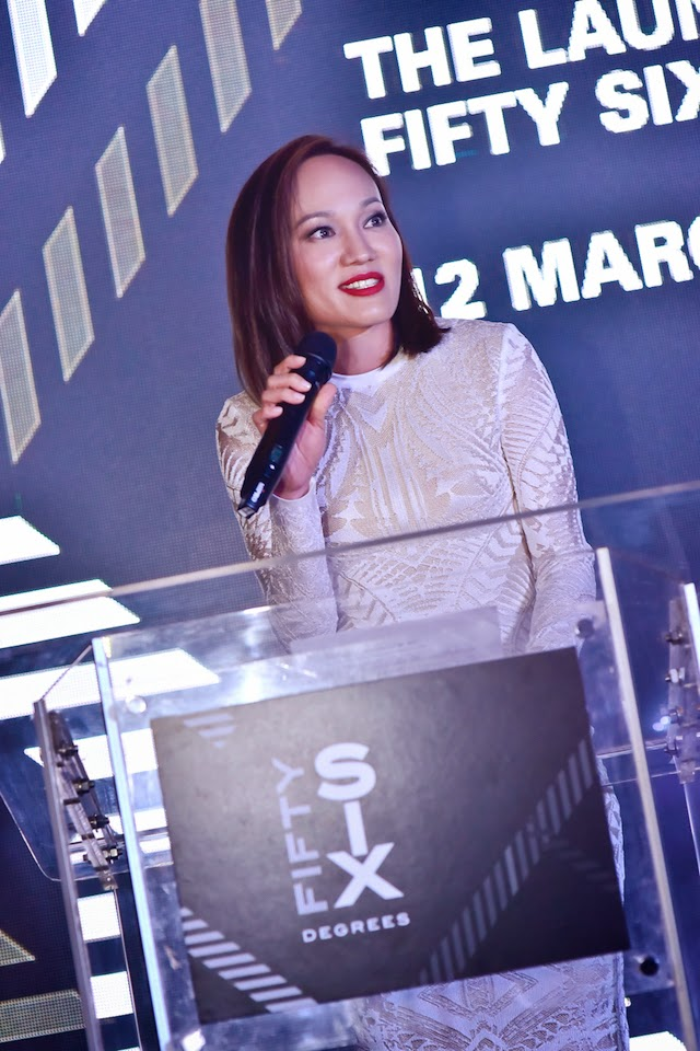 Kristine Goh, Founder and CEO of 56 Degrees Marketing addressing guests