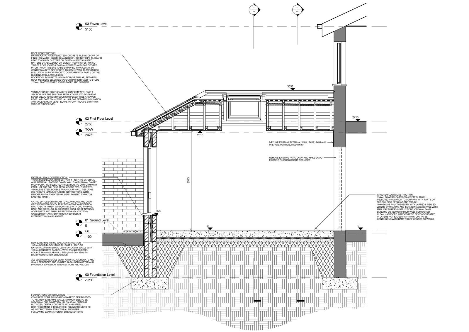 Door Foundation Detail Amp Rose Wall Secs Copy Sc 1 St