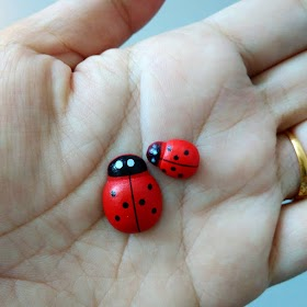 Restocked Craft SUpply : Ladybug Kayu