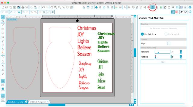 silhouette studio designer edition, silhouette studio nesting tool tutorial, DE