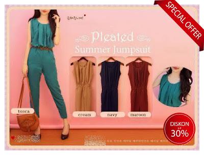 jumpsuit wanita casual formal elegan baju korea import murah stylish