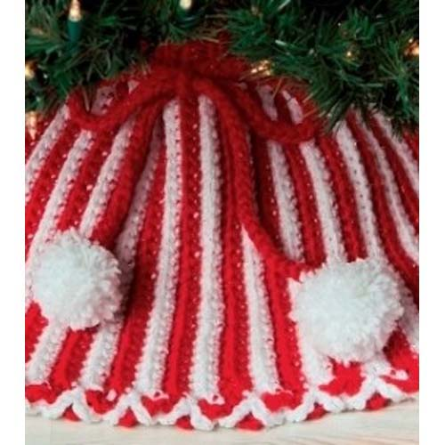 Knit Christmas Tree Skirt