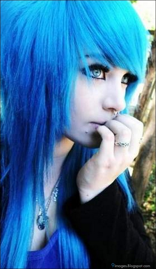 For support Pretty emo scene girls with blue hair opinion you