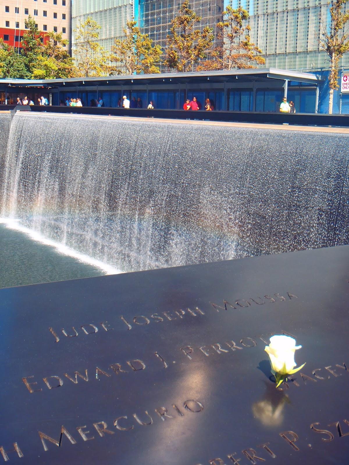 Fountain at 9/11 Memorial New York City
