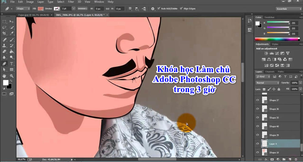 Khóa học Làm chủ Adobe Photoshop CC trong 3 giờ