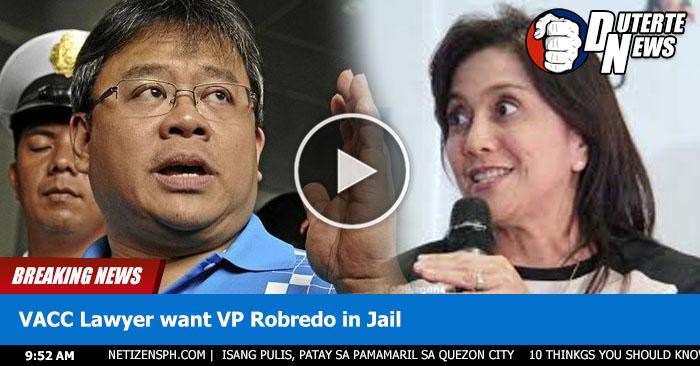 VACC Lawyer Gustong Ipakulong si VP Leni Robredo