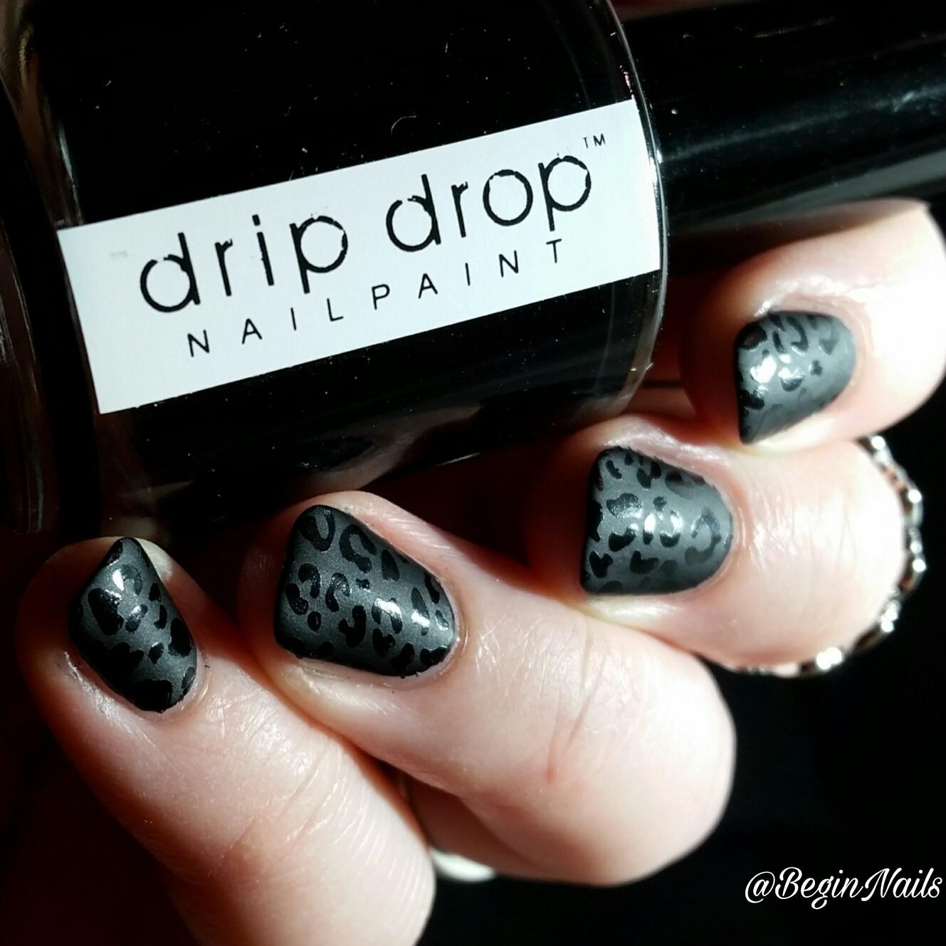 Let\'s Begin Nails: Digit-al Dozen: Black Leopard Matte Print