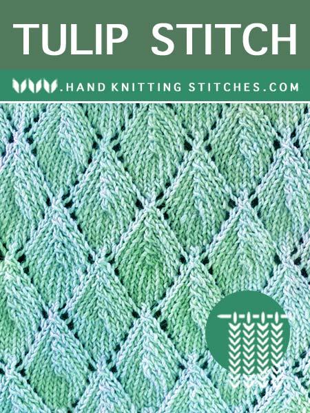 The Art of Lace Knitting - Tulip Lace #KnittingPattern.