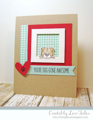 You're Dog-Gone Awesome card-designed by Lori Tecler/Inking Aloud-stamps and dies from My Favorite Things