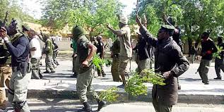 Protest By Mopol Officers In Maiduguri