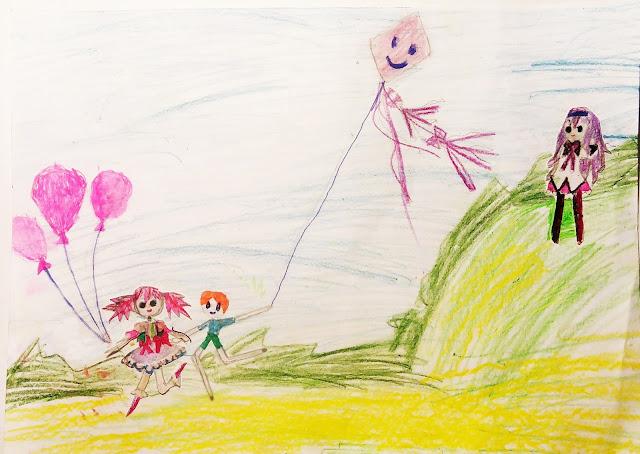 """детский рисунок """"день воздуха и любви"""""""