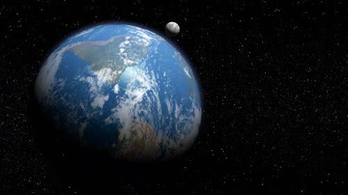Planeta tierra y la Luna