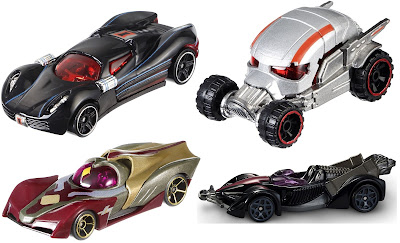 Marvel's Captain America Civil War Hot Wheels Cars Series - Black Widow, Ant-Man, The Vision & Hawkeye
