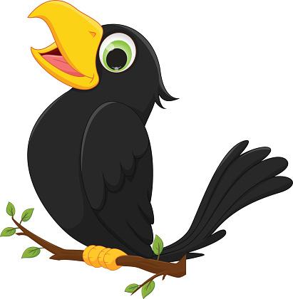 Картинка ворона для детей