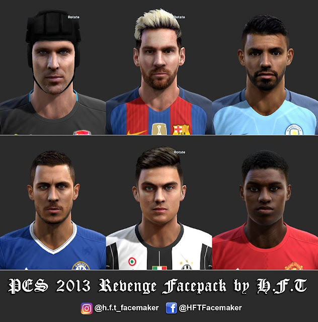 PES 2013 Revenge Facepack by H.F.T