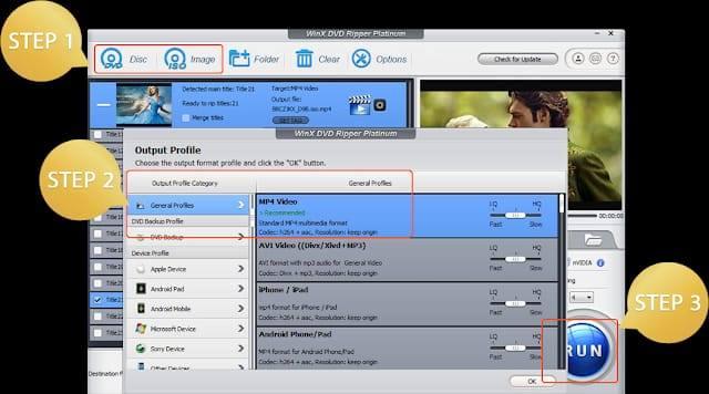 تحويل DVD الى MP4 مجانا باستخدام Handbrake or Winx DVD Ripper