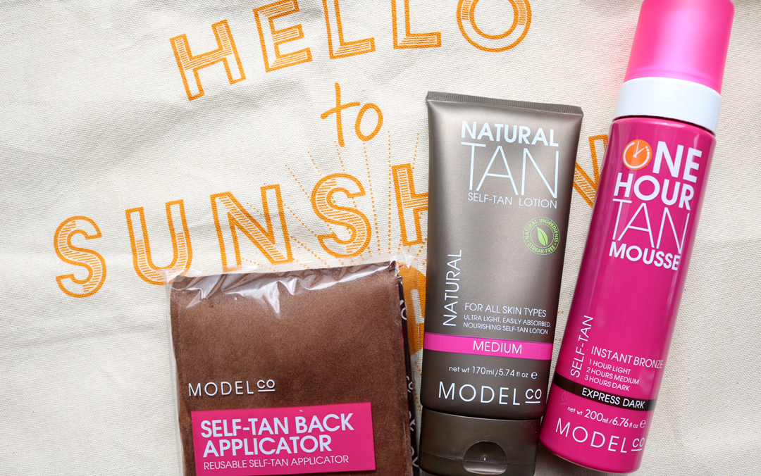 ModelCo One Hour Tan Mousse, Natural Tan Self-Tan Lotion & Self-Tan Back Applicator review