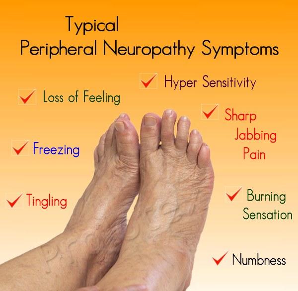 Typical peripheral neuropathy symptoms