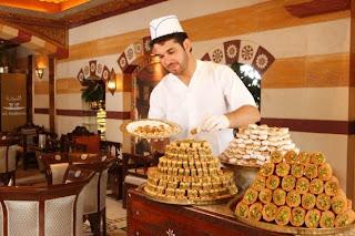 postres y dulces árabes.