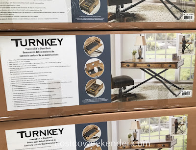 Turnkey Powered Sit n' Stand Desk features USB ports to charge your smartphone