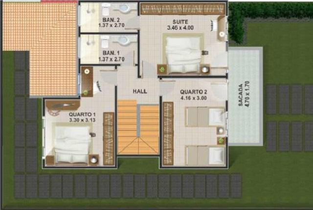 Plano de casa con tres dormitorios de 148 m2 planos de for Planos de casas medianas