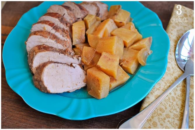 como fazer porco batata doce