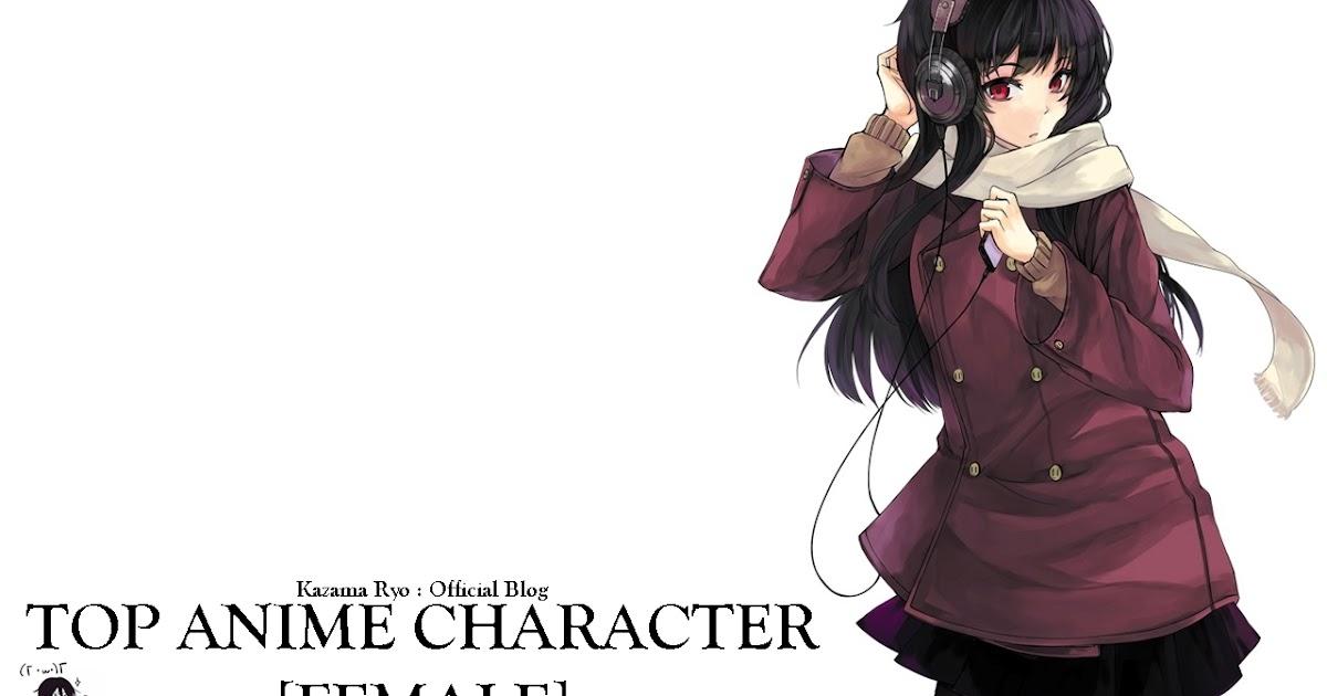 Top 5 Anime Characters : Kazama ryo official top anime character female